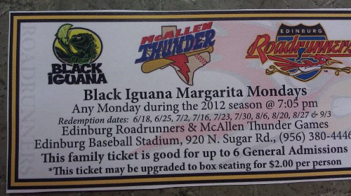 BLACK iGUANA Hosts Margarita Mondays @ Edinburg Roadrunner Games!